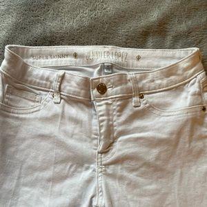⚡️Jennifer Lopez White Skinny Jeans ⚡️